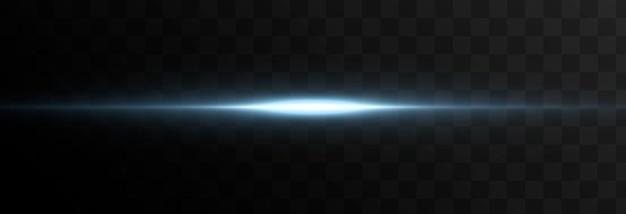 Vector gloeiende lichtlijn magische gloed blauw licht neonlijn gloeiende lijn, png