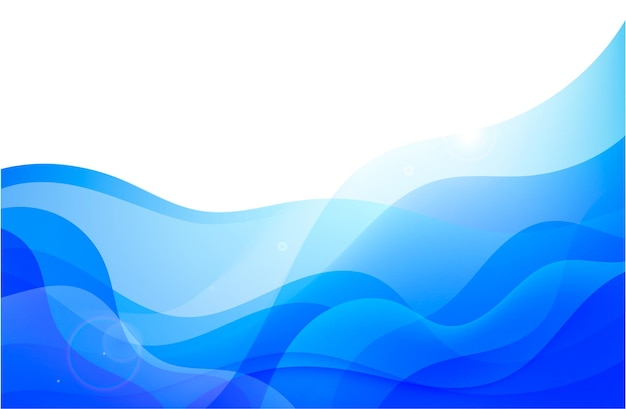 Vector golvende abstracte geometrische achtergrond blauwe stroom hoizontale banner trendy gradien