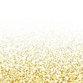 Vector goud kleur deeltjes vonken glanzend stof effect confetti textuur kunst luxe magie rijke artistieke abstracte voering gradiënt witte achtergrond