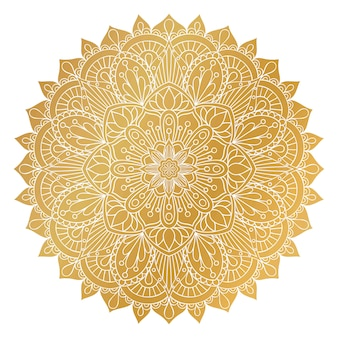 Vector gouden mandala sieraad.
