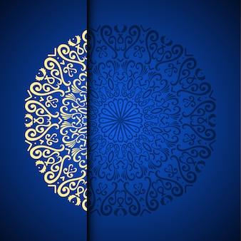 Vector gouden oosterse arabesque patroonachtergrond met plaats voor tekst