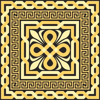 Vector gouden patroon van doorwevende lijnen