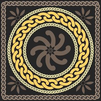 Vector gouden patroon van kettingen
