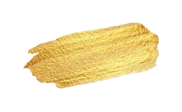 Vector gouden verf uitstrijkje beroerte vlek abstracte goud glinsterende getextureerde kunst illustratie