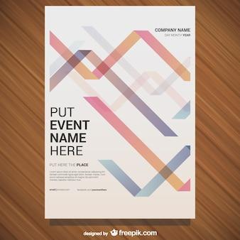 Vector gratis poster geometrisch ontwerp