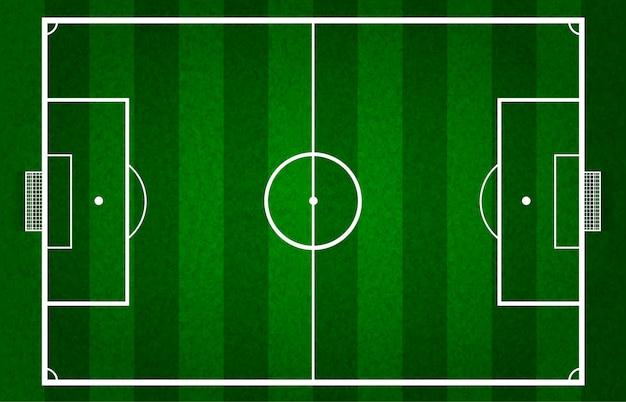 Vector groen voetbalveld of voetbalveld, rooster