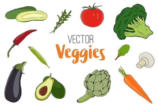 Vector groenten