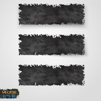 Vector grunge template header design.