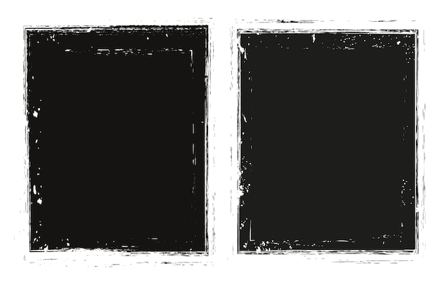 Vector grunge zwarte frames
