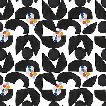Vector hedendaagse abstracte moderne vormen illustratie home decor print mode stof