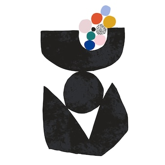 Vector hedendaagse moderne abstracte vorm illustratie grafische bron digitale kunstwerken