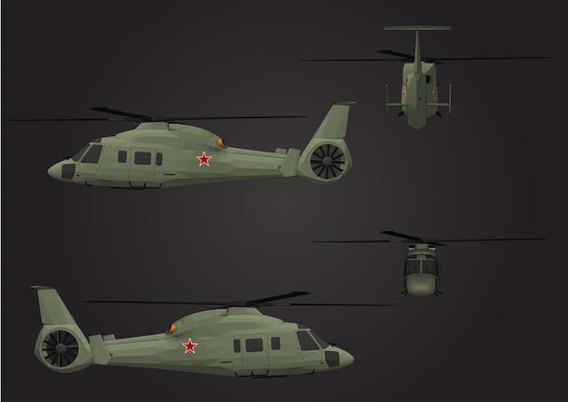 Vector helikopters voor soldaten