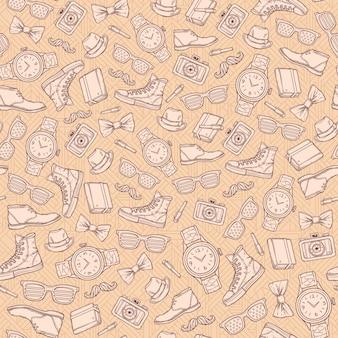 Vector hipster naadloos patroon.