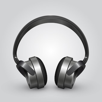 Vector hoofdtelefoon pictogramachtergrond. vector illustratie kunst