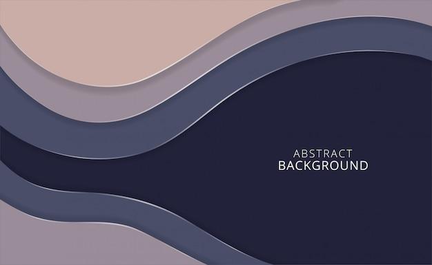 Vector horizontale papier gesneden abstracte achtergrond