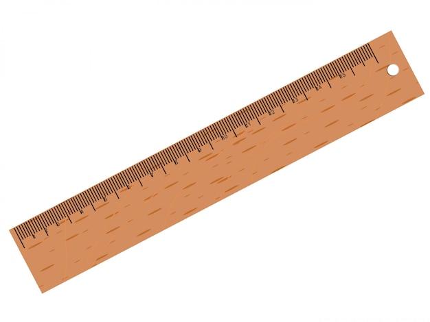 Vector houten liniaal