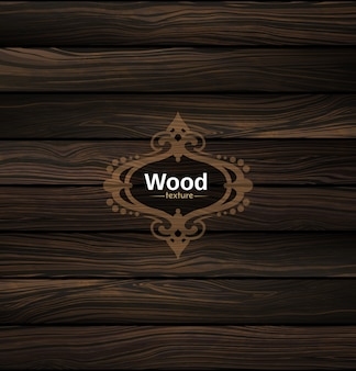 Vector houtstructuur. natuurlijke donkere houten achtergrond.