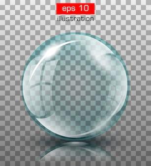 Vector illustratie. abstracte achtergrond met glazen bol.