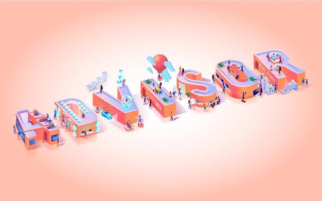 Vector illustratie advissor op roze achtergrond.