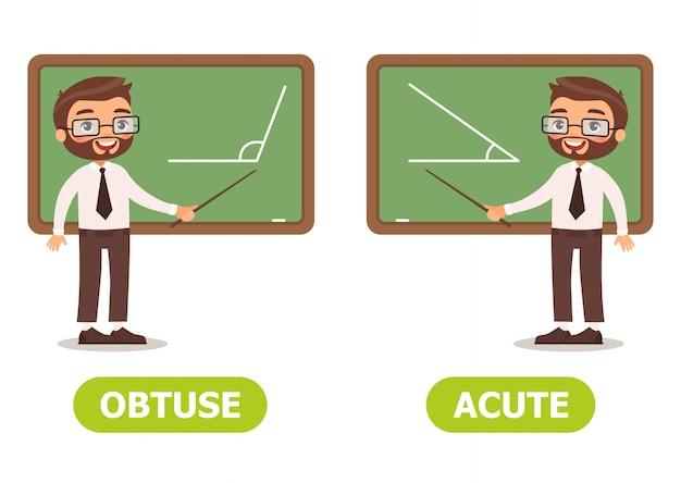 Vector illustratie antoniemen en tegenstellingen