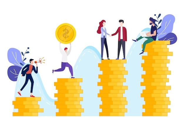 Vector illustratie beleggingsbeheer bedrijf