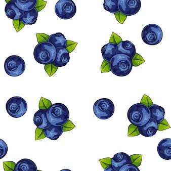Vector illustratie bosbessen patroon