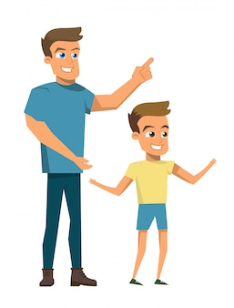 Vector illustratie cartoon gelukkig familie concept