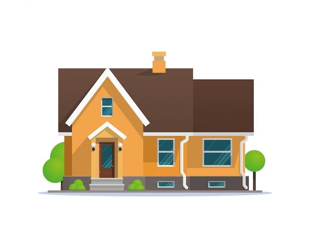 Vector illustratie cartoon residentiële herenhuis