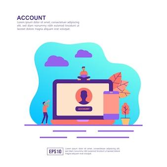 Vector illustratie concept van de account