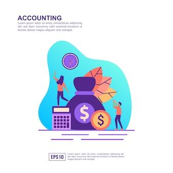 Vector illustratie concept van de boekhouding