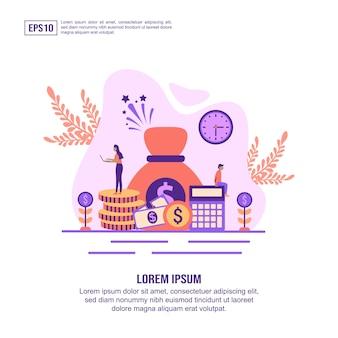 Vector illustratie concept van de economie