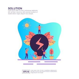 Vector illustratie concept van de oplossing