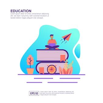 Vector illustratie concept van het onderwijs