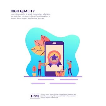 Vector illustratie concept van hoge kwaliteit