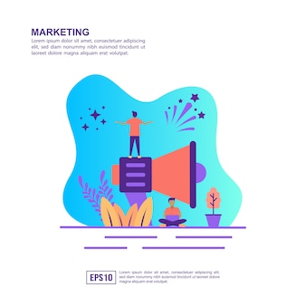 Vector illustratie concept van marketing