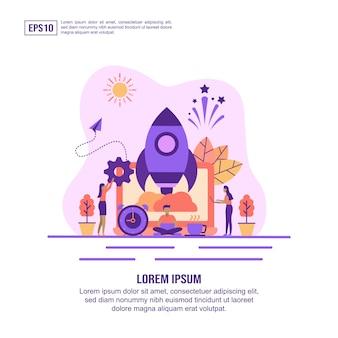 Vector illustratie concept van opstarten