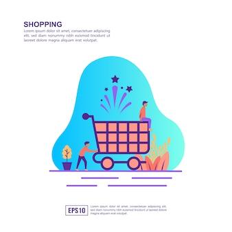 Vector illustratie concept van winkelen