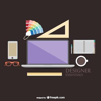 Vector illustratie designers gereedschappen