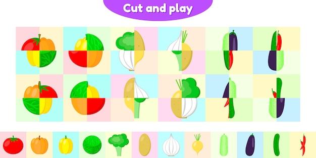 Vector illustratie. educatief spel voor kinderen in voorschoolse en schoolgaande leeftijd.