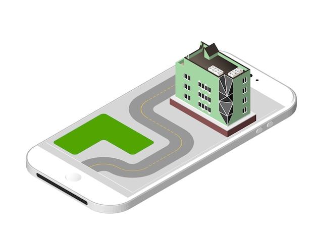 Vector illustratie geïsoleerd. modern huis. stedelijke woning gebouw met ramen en airconditioning