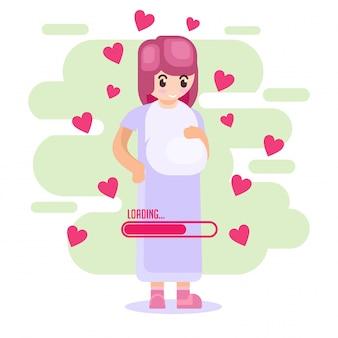 Vector-illustratie gelukkige moederdag