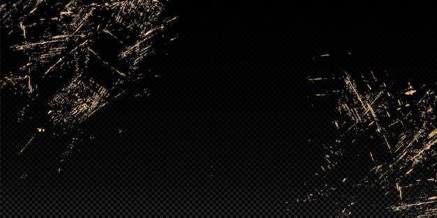 Vector illustratie goud glitter textuur achtergrond. penseelstreek ontwerpelement.
