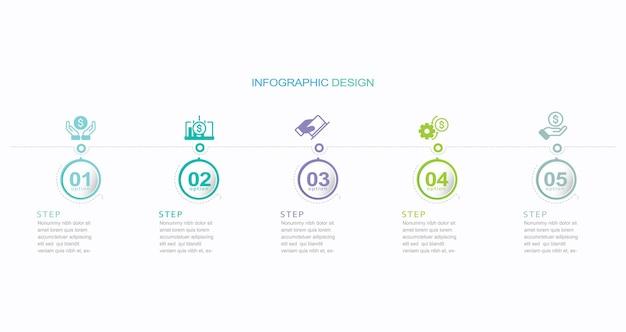 Vector illustratie infographic ontwerpsjabloon
