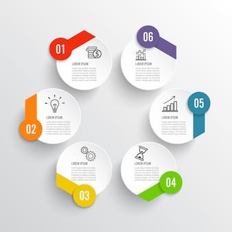 Vector illustratie infographics 6 opties