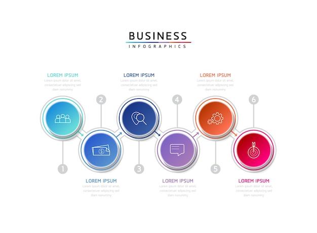 Vector illustratie infographics ontwerp sjabloon zakelijke informatie presentatie grafiek met 5 o