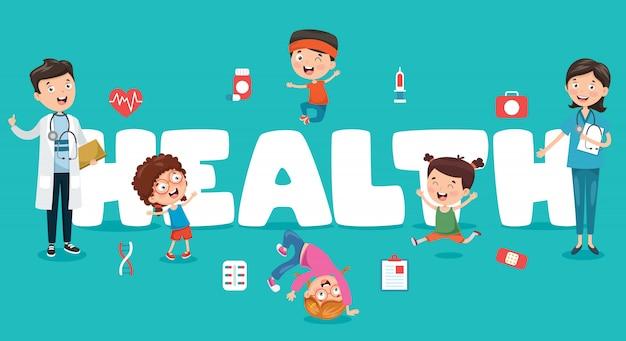 Vector illustratie medisch en gezondheidszorg