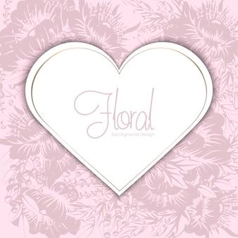 Vector illustratie met een hart. perfectioneer voor valentijnsdag, verjaardag, sparen de datumuitnodiging