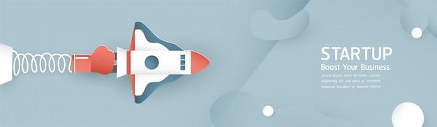 Vector illustratie met startconcept.