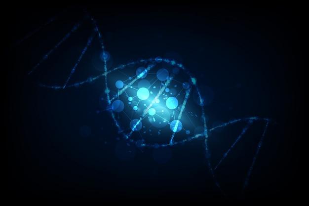 Vector illustratie moleculen kernsplijting, wetenschap onderzoek concept