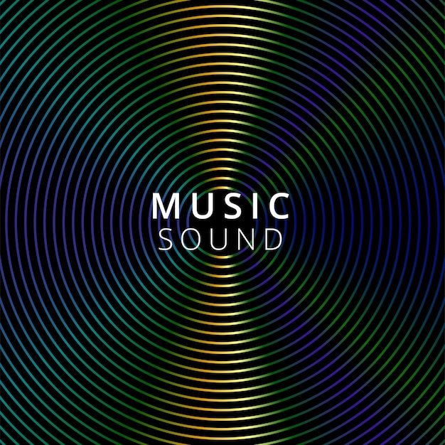 Vector illustratie muziek op donkere achtergrond